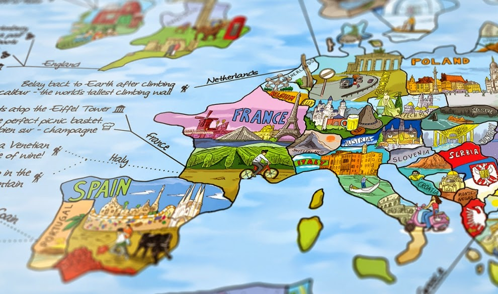 if i was buying a wall map to put in my kids travel themed nursery their bucket list map would probably be the map
