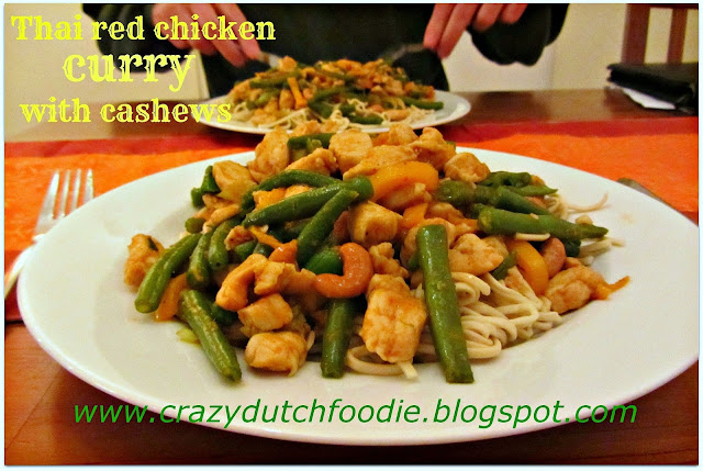 Crazy Dutch Foodie: Thai Red Chicken Curry with Cashews