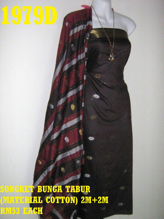 SBT 1979D: SONGKET BUNGA TABUR, 2M+2M, MATERIAL COTTON