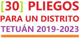 [30] Pliegos para un distrito. Tetuán 2019-2023