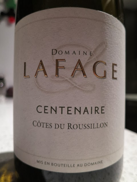 Wine Review of 2011 Domaine Lafage Cuvée Centenaire from AC Côtes du Roussillon, Midi, France