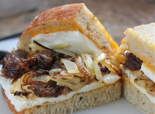 BEEF, EGG & ONION SANDWICH