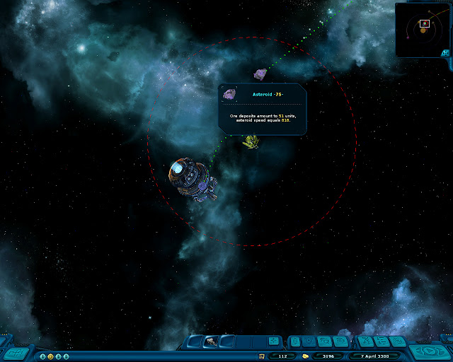 Space Rangers: A War Apart Asteroid Screenshot.