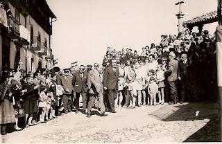 visita del gobernador a Candelario Salamanca el 6 de julio de 1969