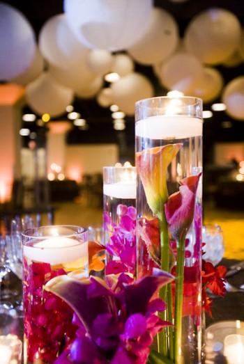 Dodeco Centres De Table Avec Fleurs Immerg Es