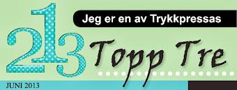 Topp 3 hos Trykkpressa Juni 2013