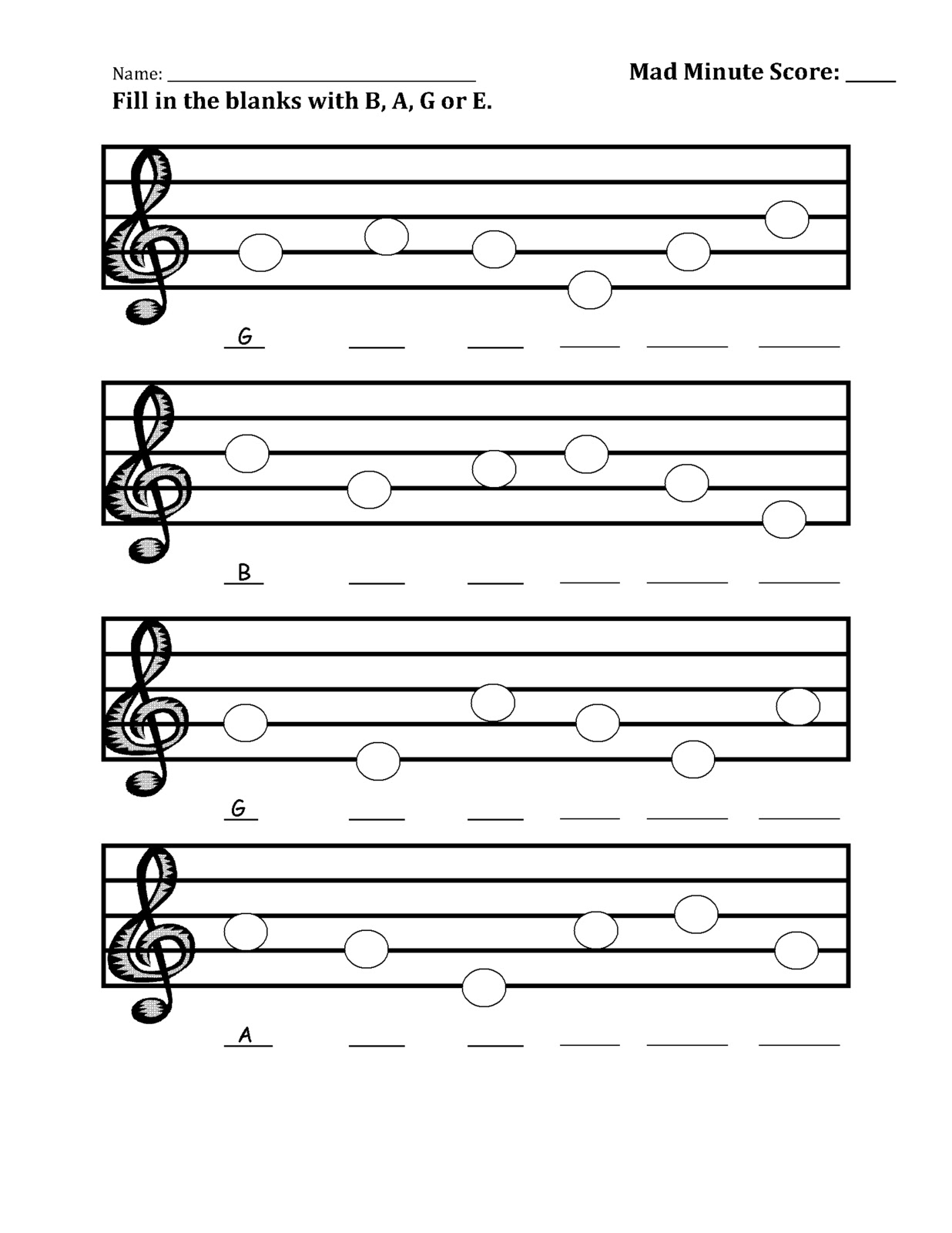 The Sweetest Melody: Pitch-Labeling Practice Worksheets
