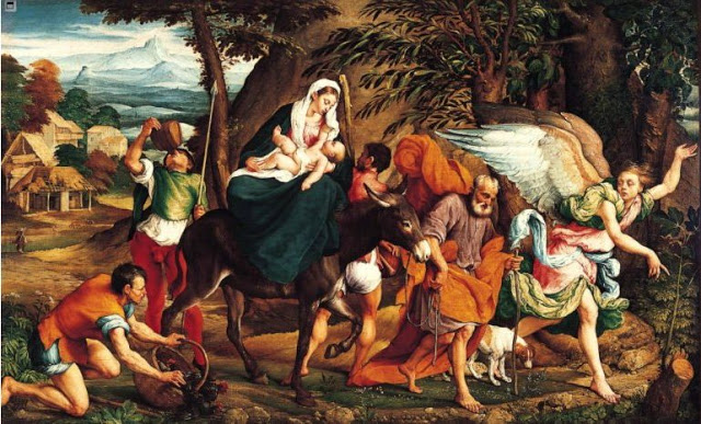 the flight into egypt essay Luca giordano [italian baroque era painter the flight into egypt museum of fine arts, houston, texas madonna and child with souls in purgatory, ca1665.