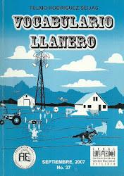 NRO 37.VOCABULARIO LLANERO.