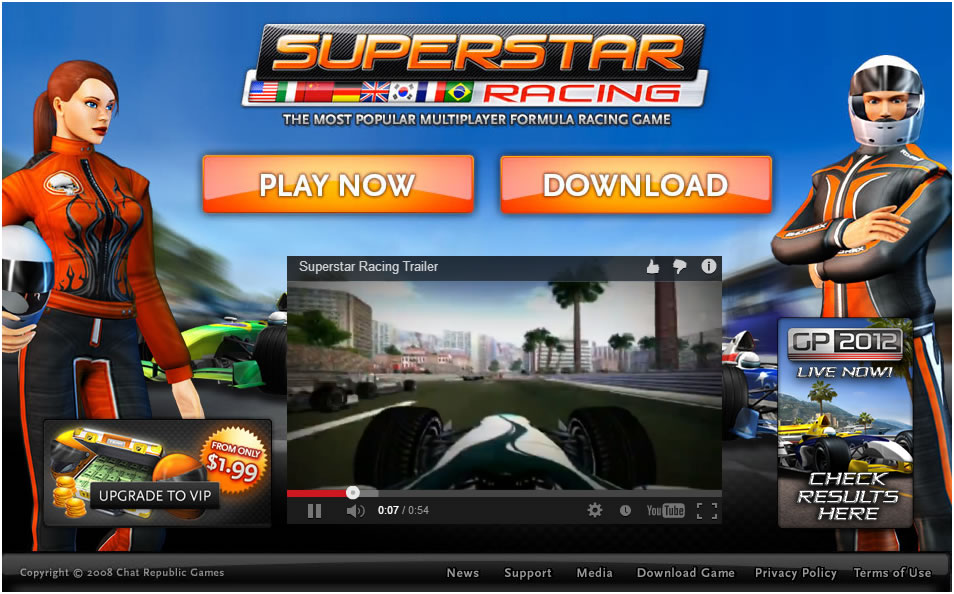 Game : Superstar Racing
