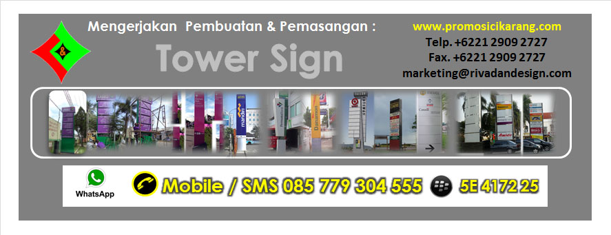 Jasa Pemasangan Tower Sign