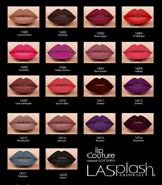 Revue : Lipstick Lip Couture de Lasplash Cosmetics dupe Lime Crime