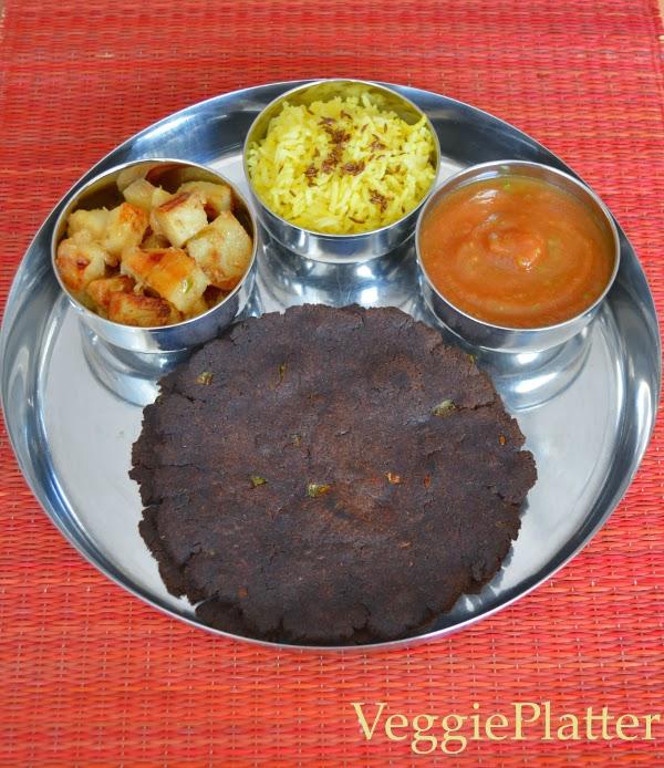 Sikkim Platter ~ Chambray, Kodo ki Roti, Til ko Alu & Tamatar Chutney
