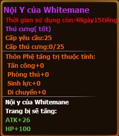 Chỉ số pet Nội y của Whitemane gunbao