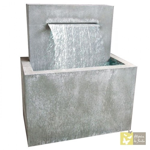 Fontaine de jardin en zinc Zen lame d\'eau | Fontaine de Jardin