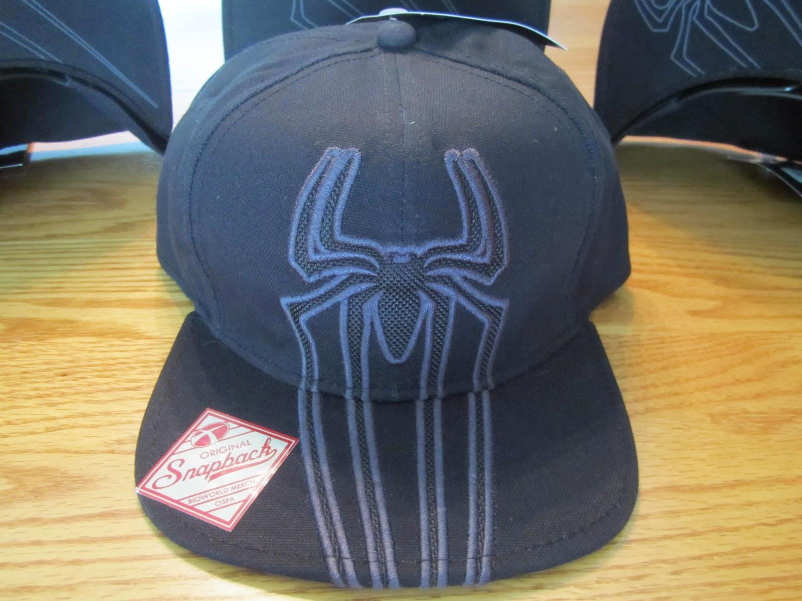 The Amazing Spider-Man Spiderman Snapback Hat Marvel Comics NWT - BLACK