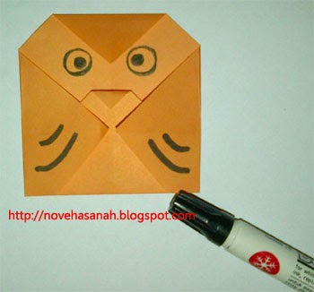 origami burung hantu yang sangat mudah