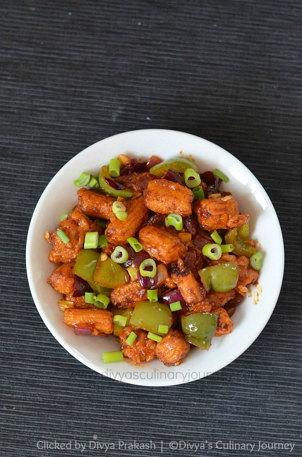 Baby corn Manchurian, Indo-Chinese Appetizer