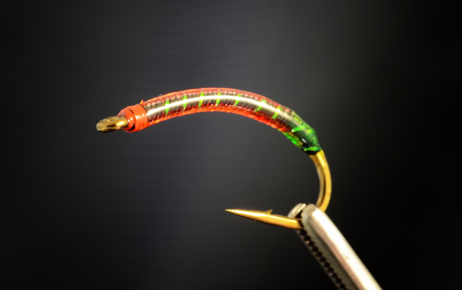 the gut bomb bloodworm fly fish food fly tying and
