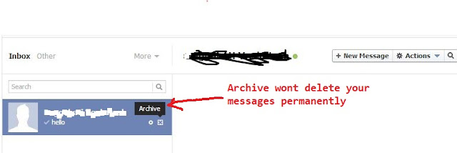 Delete Facebook Messages Totally with Single Click