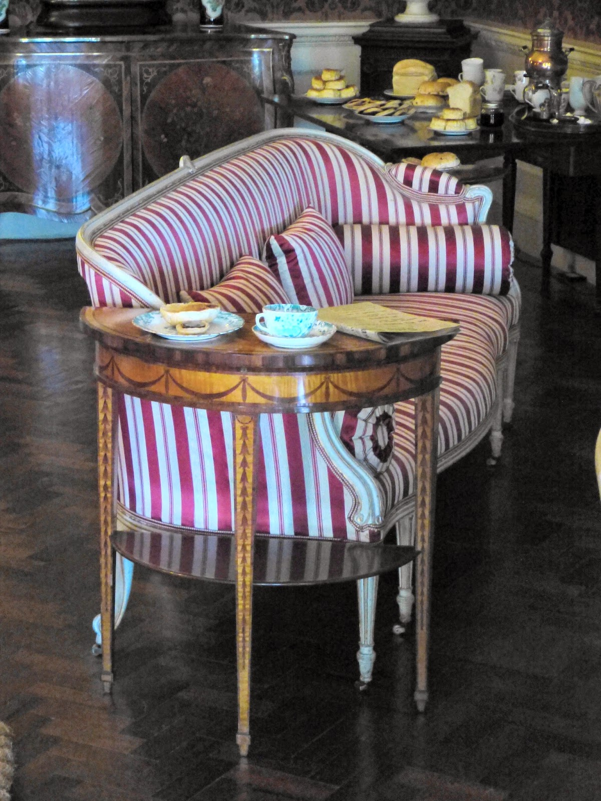 Stripy sofa by Thomas Chippendale the Younger