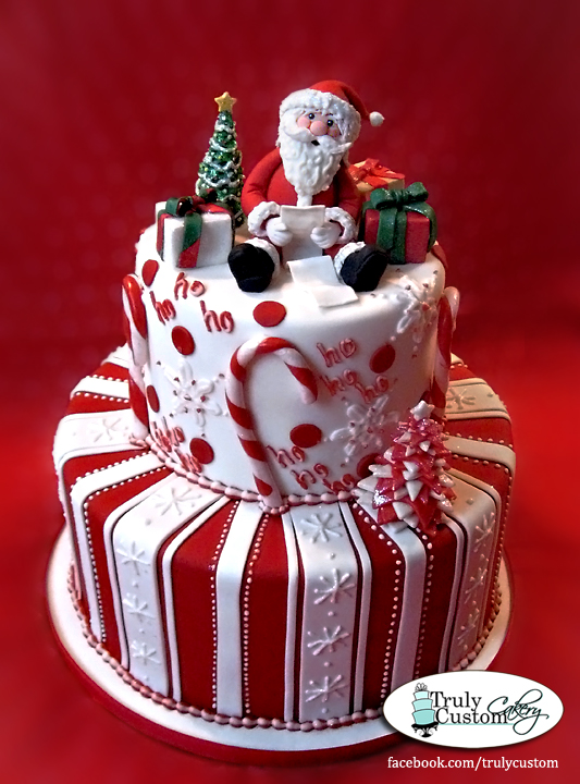 Christmas Cake Ideas Santa : Stacey s Sweet Shop - Truly Custom Cakery, LLC: Holiday ...