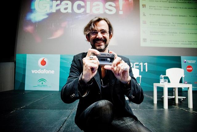 Pablo Arrieta al cierre de su intervención. Foto de Victoriano Izquierdo