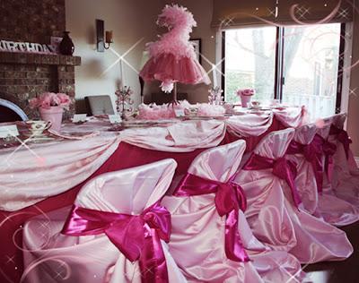 Decoracion para Fiestas: Ideas de color rosa para niñas