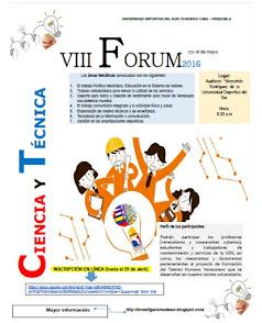 FORUM DE CIENCIA Y TÉCNICA 2016