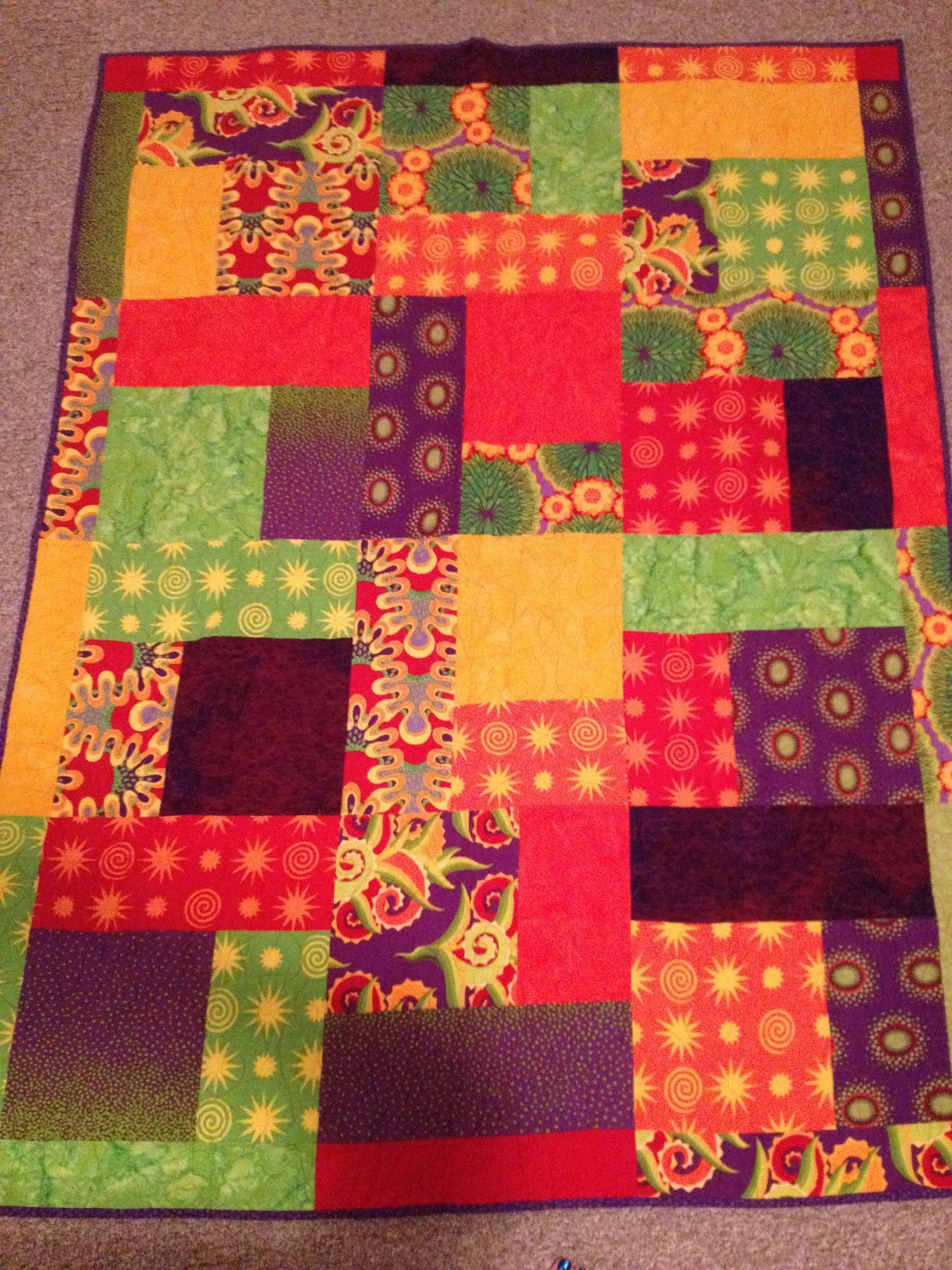 Quilt Patterns For Flannel : If Quilting Was My Day Job...: Fabulous Flannel Happy Quilt