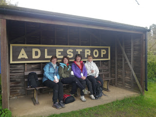 The group looking forward to starting the walk