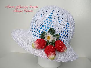 вязанные  крючком летние шляпки
