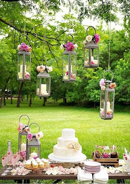 Outdoor Candle Decoration