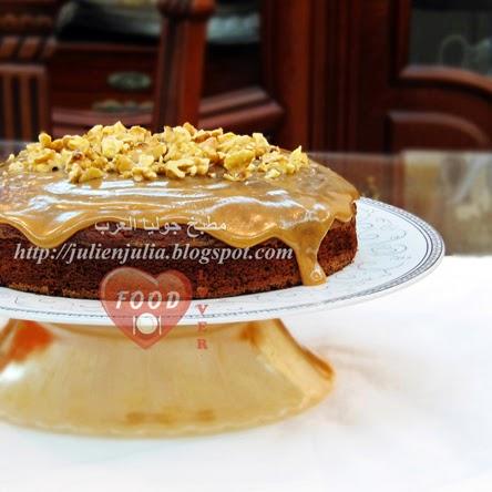 Caramel Walnut Date Cake كيك التمر بالكراميل والجوز