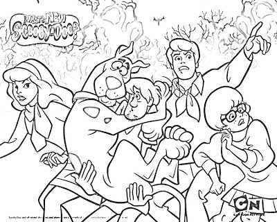 Scooby Doo Word Search Coloring Pages
