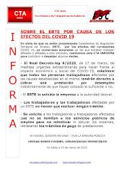 SOBRE EL ERTE POR CAUSA DE LOS EFECTOS DEL COVID 19