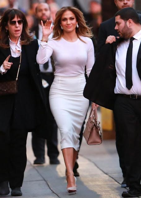 Actress, Singer, @ Jennifer Lopez - outside 'Jimmy Kimmel Live!' in Hollywood