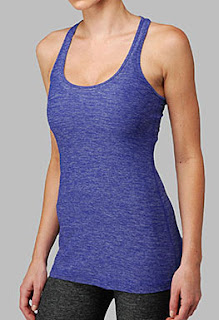 lululemon static wish blue cool racerback yoga tank