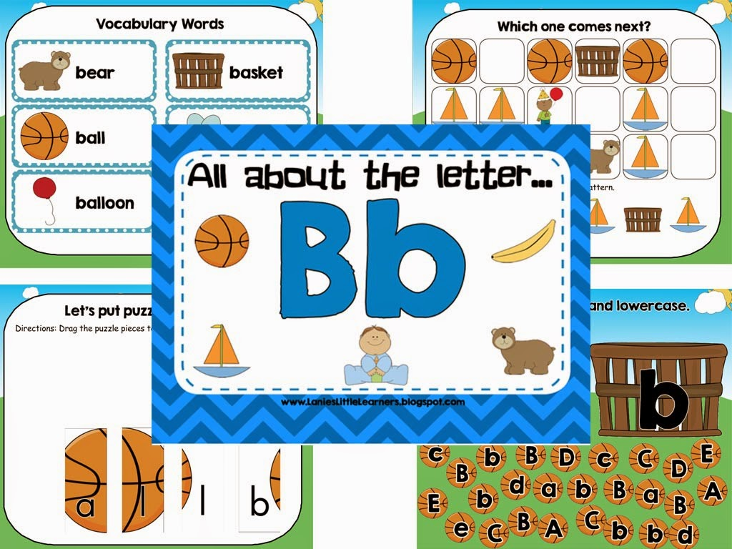 All About the Letter B - Letter of the Week SMARTBoard Activities