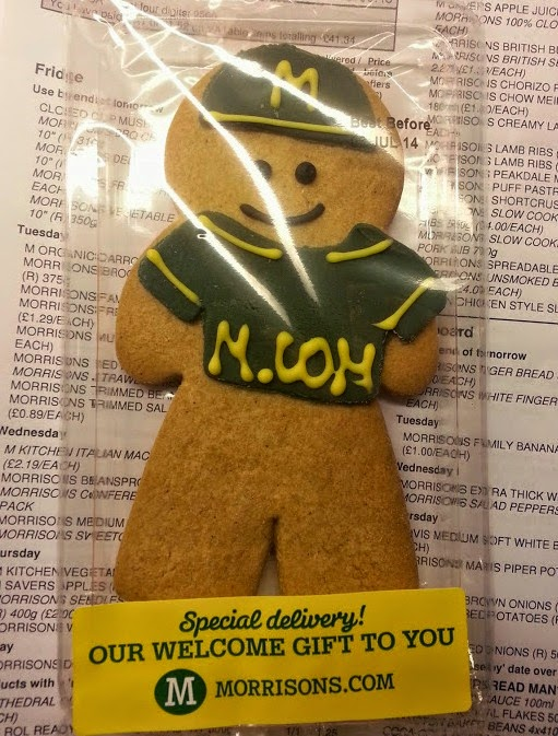 Morrisons Delivery Man Gingerbread in uniform