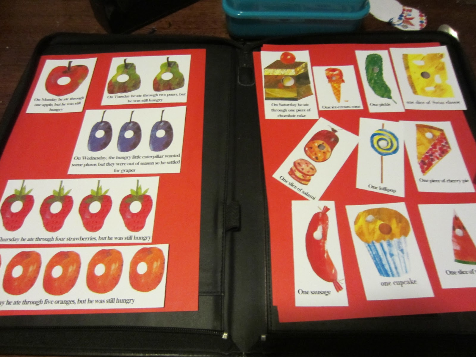 Learn with Play at Home: Very Hungry Caterpillar Food Labels