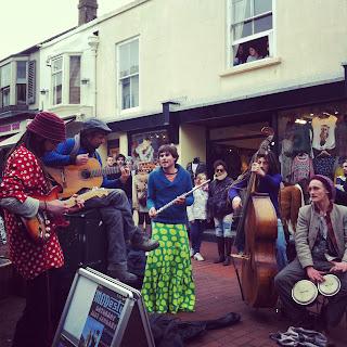 Brighton artisti di strada