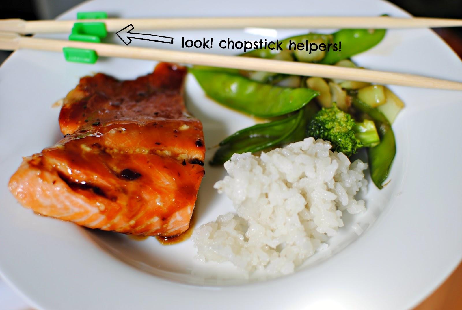 Simply Scratch » Honey-Teriyaki Glazed Salmon with Stir-Fry Veggies