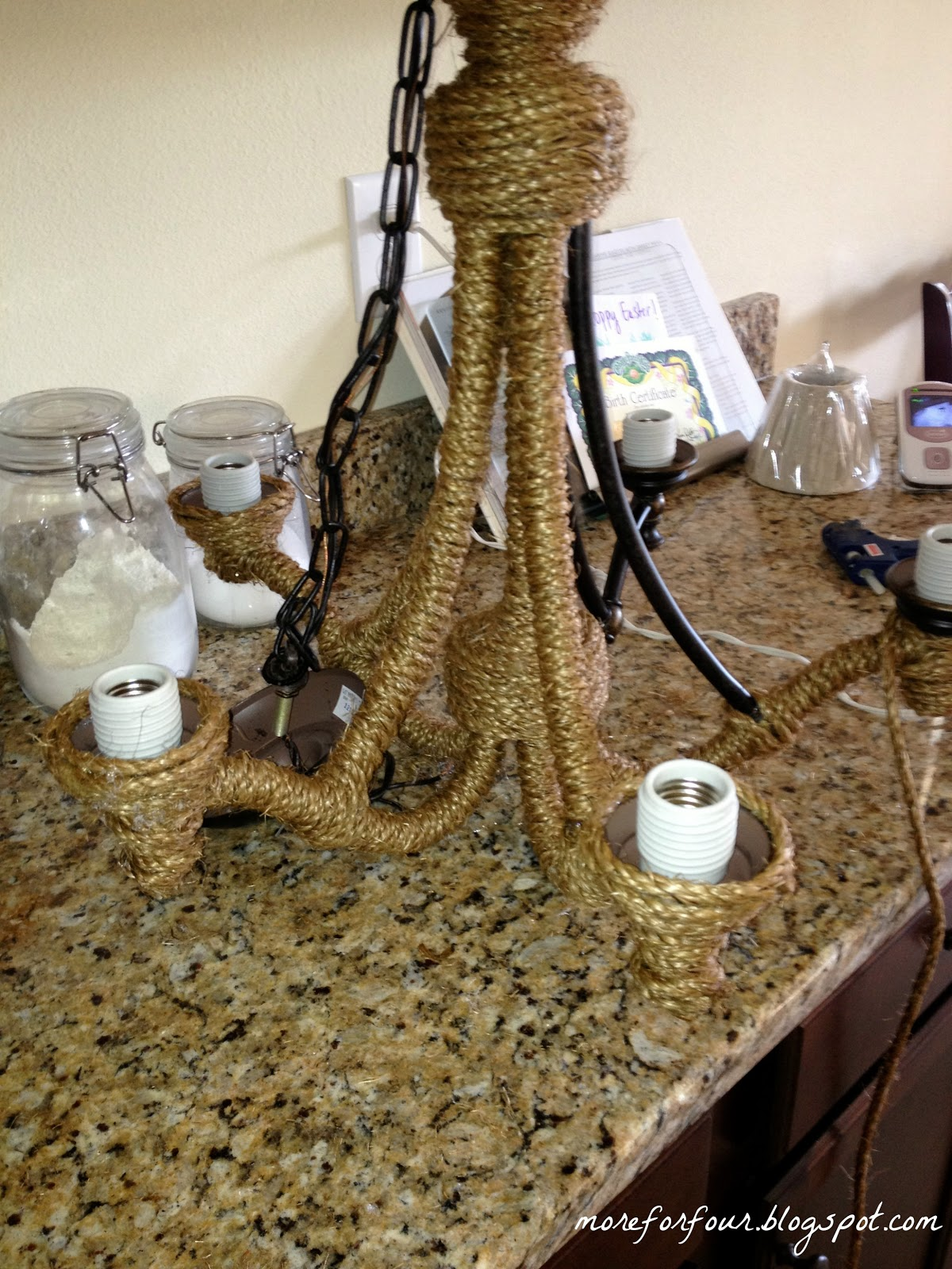 Diy Rope Chandelier More for four diy pottery barn rope chandelier audiocablefo