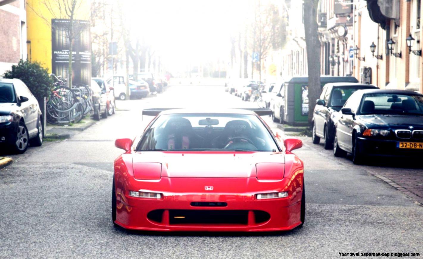 Honda Nsx Red Car Parking Hd Wallpaper  Best Desktop Wallpapers