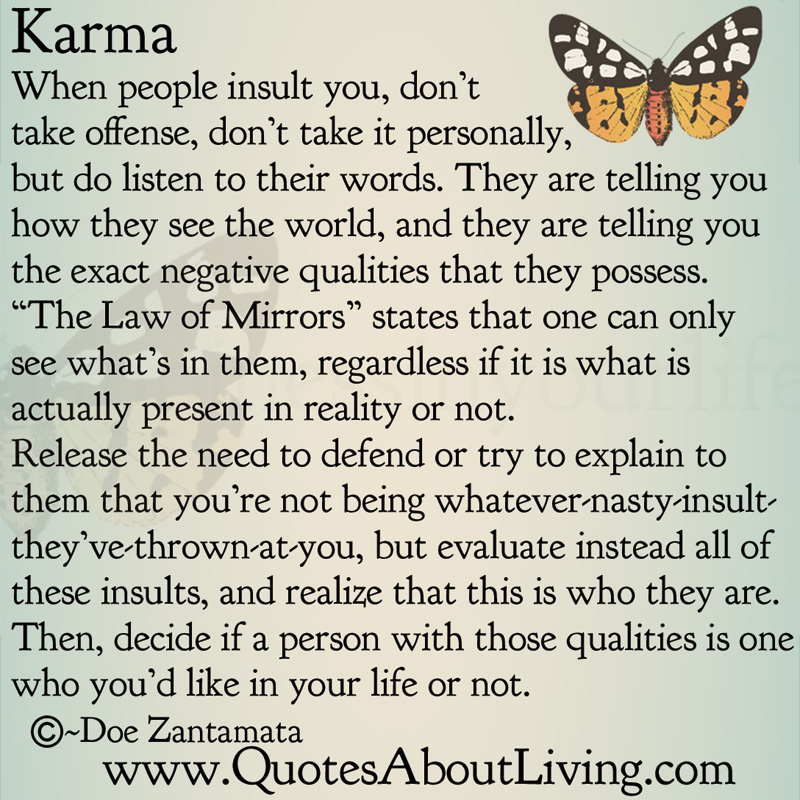 quotes on karma and effect quotesgram