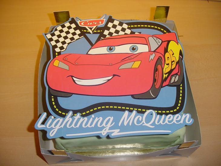 Cars-race taart voor Rik