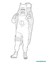 Mewarnai Gambar Kankuro Musuh Naruto Shippuden