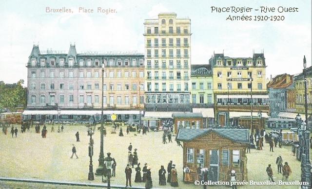 Place Rogier - Rive Ouest - Années 1910-1920 - Hôtel des Boulevards - Hôtel Cosmopolite - Hôtel Royal Nord - Bruxelles-Bruxellons