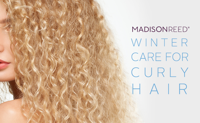 image Madison Reed Winter Care for Curly Hair Woman with blonde wavy hair